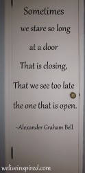 Inspirational Door Photo&Quote