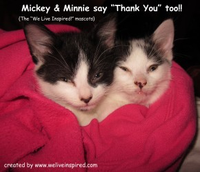 Mickey&Minnie say Thanks! www.weliveinspired.com