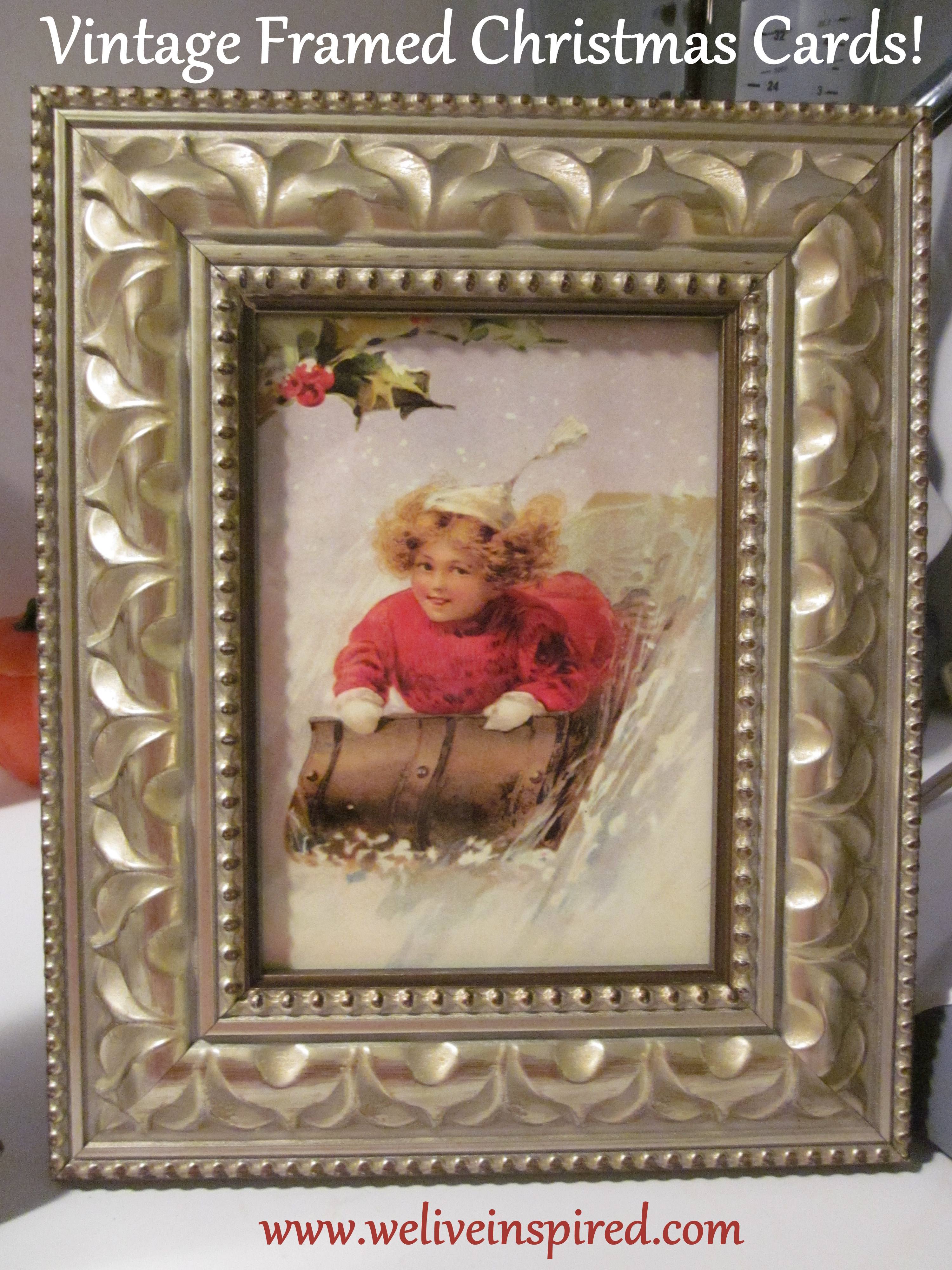 Antique Framed Vintage Christmas Cards-Inexpensive Christmas Gift ...