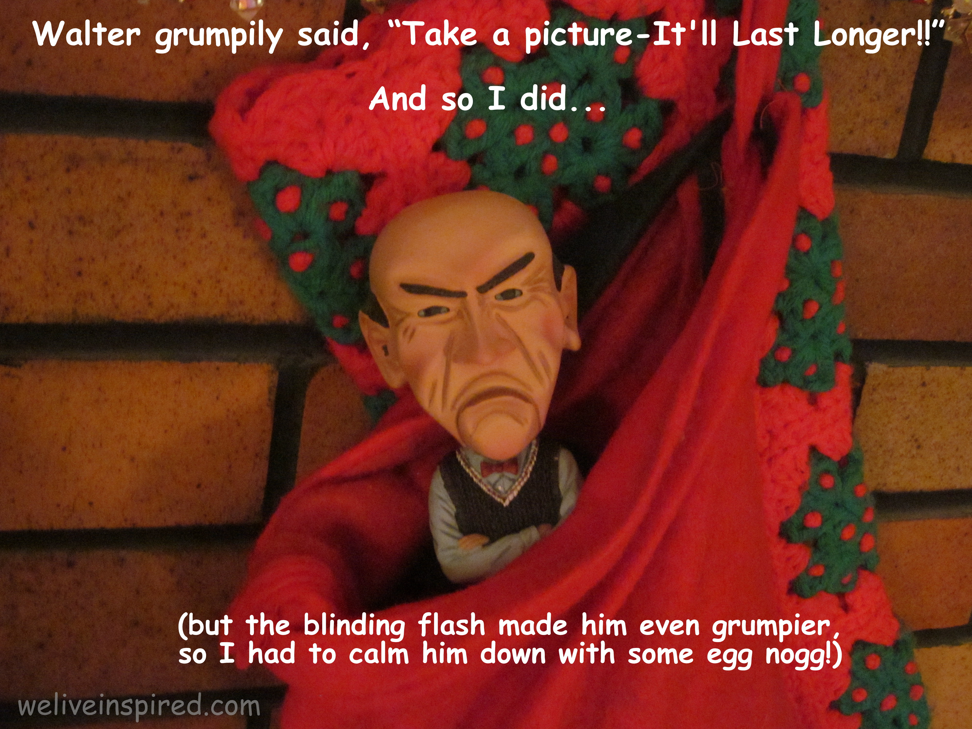 Walter the Christmas Curmudgeon & Other Stocking Pranks - We Live ...