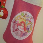 Mama Fluffy is such a feminine cat, with a perfectly pink nose, that I had to get her a pink princess stocking.