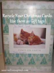 Recycled Christmas Card 2