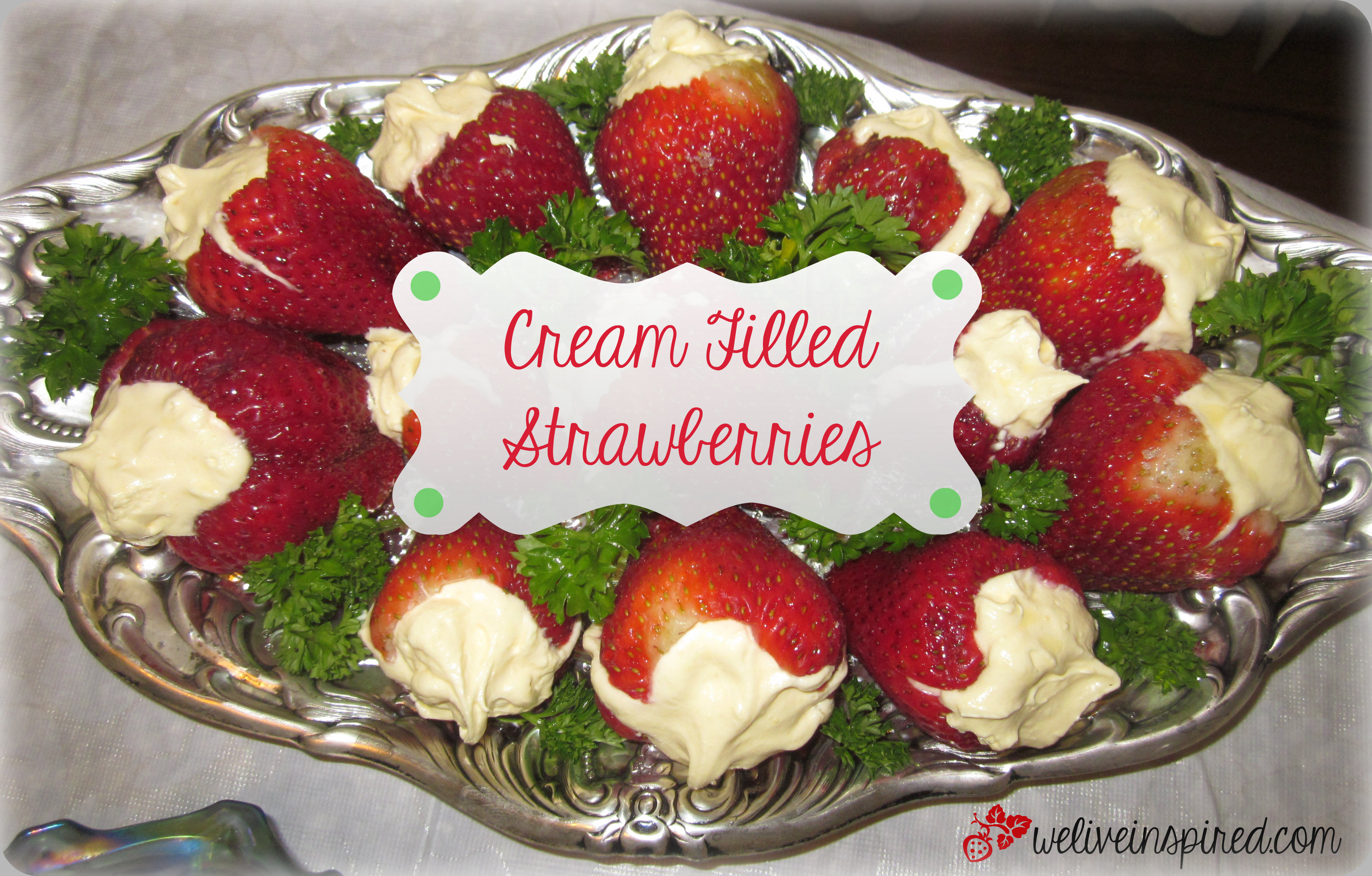 4th of july party food recipe easy cream filled strawberries we stuffed strawberries forumfinder Choice Image