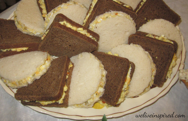 Egg and Olive Tea Sandwiches