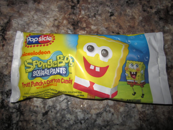 Spongebob Squarepants Popsicle packaging