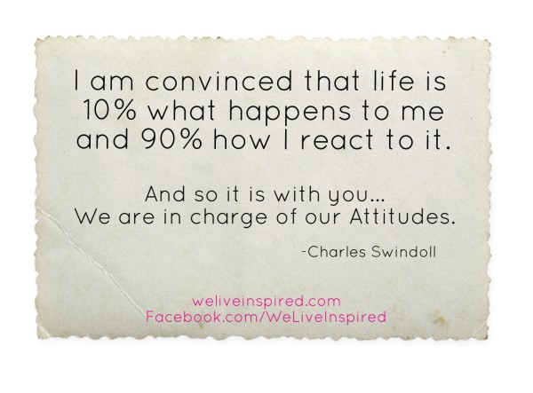 Attitude Quote by Chuck Swindoll