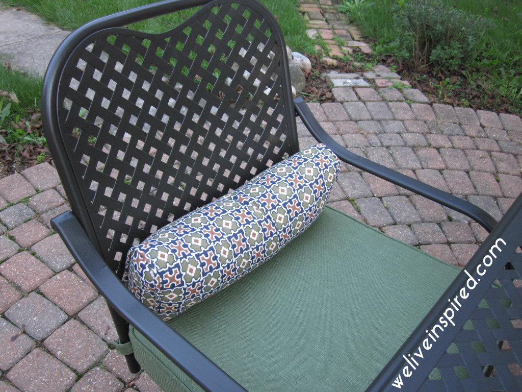Hampton Bay Fall River Patio Dining Chair in Moss
