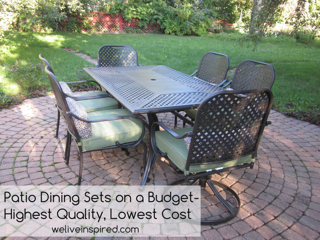 Where to buy low cost quality patio furniture and dining sets for Best deals on patio furniture sets