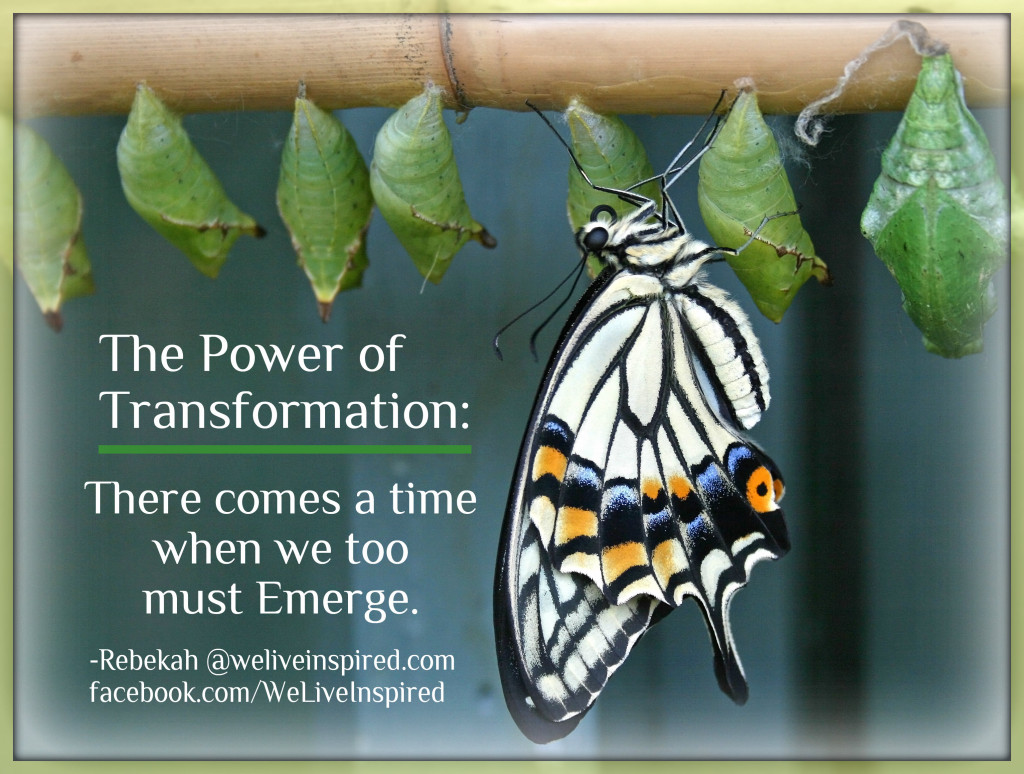 Power of Transformation Quote By We Live Inspired