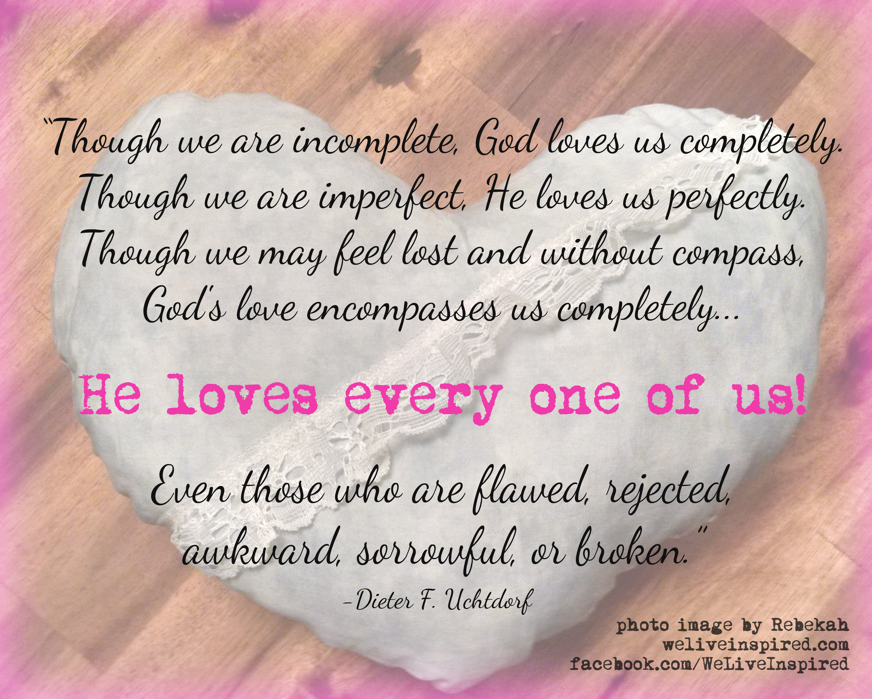Quotes About God And Love Everyday Miraclesgod Sent Me A Heart  We Live Inspired