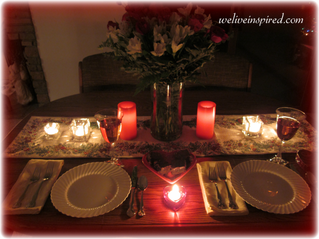 romantic valentines day tablescape for two