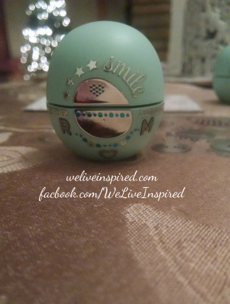 EOS lip balm bling