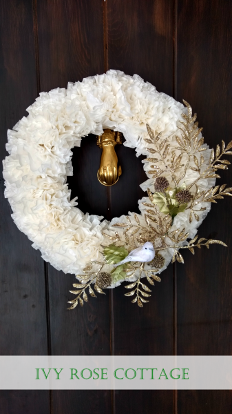 elegant white and champagne wreath 2